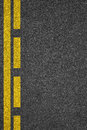 Road asphalt texture with separation lines Royalty Free Stock Photo