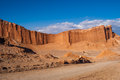 Road in atacama red mountains desert Royalty Free Stock Photos