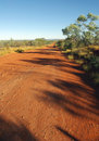Road in the Australian desert Royalty Free Stock Photo