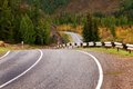 Road in autumn mountains Royalty Free Stock Photo