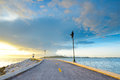 Road on the beach in rayong thailand east of Royalty Free Stock Images