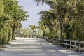 Road by the beach in south florida Royalty Free Stock Image