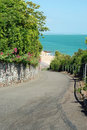 Road with beach view eastbourne england Royalty Free Stock Photo