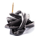 Road bike inner tube ii bicycle rubber Stock Images