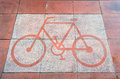 Road bike made ​​from cement after the rain Royalty Free Stock Photo