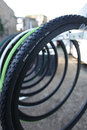 Road bike tires for racing Stock Image