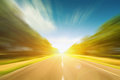 Road with blue sky in motion blur Royalty Free Stock Photos