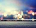 Road and blurred modern city Royalty Free Stock Photo