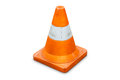 Road bollard traffic cone isolated on white background with clipping path Stock Photos