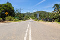 On the road in borneo wide jungle of malaysia sabah province Royalty Free Stock Photo