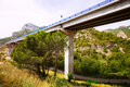 Road bridges in mountains lleida catalonia Stock Image