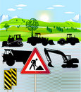 Road building Royalty Free Stock Photo