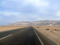 The road between cairo and sharm el sheikh sinai peninsula car traveling on Royalty Free Stock Photography