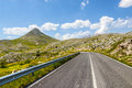 The road of Campo Imperatore Royalty Free Stock Image