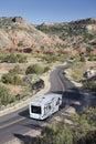 Road into Canyon. Stock Photos