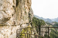Road carved in the cliff face Royalty Free Stock Photo
