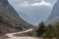 Road in chile a leading toward the andean mountains Stock Image