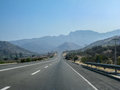 Road in chile a typical and cordillera de los andes mountains Royalty Free Stock Photos