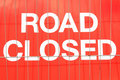 Road closed Royalty Free Stock Images