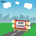 Road closed Royalty Free Stock Image