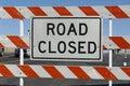 Road Closed Barricade Royalty Free Stock Photo