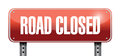 Road closed road sign illustrations design over a white background Royalty Free Stock Photography