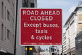 Road closed roadsign a large ahead uk Royalty Free Stock Photography