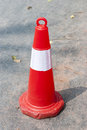 Road cone a in sunny Royalty Free Stock Images
