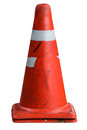 Road cone traffic pylon on white background Stock Photo
