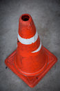 Road cones traffic cone pylon on white background Stock Photography