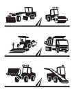 Road construction machinery vector illustration Stock Image
