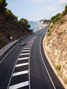 The road in Costa Brava, Spain Royalty Free Stock Image