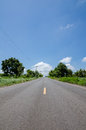 Road in countryside with natural thailand Royalty Free Stock Photography
