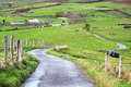 Road in the countyside asturias Stock Photo