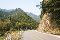 Road curves in the valley this photo was taken in nanxi river scenic area yongjia county zhejiang province china Stock Photo