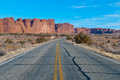 Road in desert Royalty Free Stock Photography