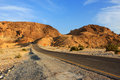 Road in the desert empty negev israel Stock Photography