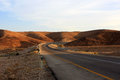 Road in the desert empty negev israel Royalty Free Stock Photo