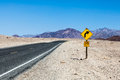 Road in the desert prospective middle of death valley usa Royalty Free Stock Photo
