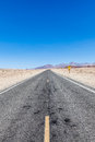 Road in the desert prospective middle of death valley usa Stock Image