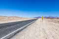 Road in the desert prospective middle of death valley usa Stock Photos