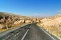 Road in Devrent Valley at Cappadocia. Turkey Royalty Free Stock Photo
