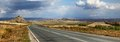 Road in east kazakhstan panorama the from semey to ust kamenogorsk Royalty Free Stock Images