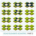 Road elements isometric Royalty Free Stock Photo