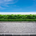 Road and fence Royalty Free Stock Photos