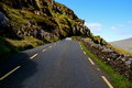 Road with fence in ireland Royalty Free Stock Photo