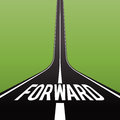 Road forward concept vector illustration of a long with the text Royalty Free Stock Images