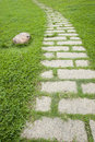 Road in garden Royalty Free Stock Photo