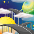 A road going to the sky illustration of Royalty Free Stock Photo