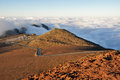 Road at Haleakala National Park, Maui (USA) Royalty Free Stock Photo